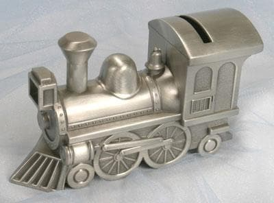 Pewter Train Keepsake Bank (Available personalized)