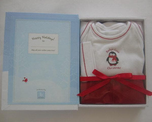 Perky Penguin Baby's First Christmas Gift Set