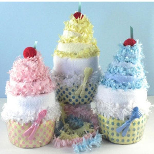 Diaper Cupcake Piñata (Available in Pink, Yellow or Blue)