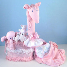 "Load image into Gallery viewer, ""Joyful Giraffe"" Diaper Piñata Gift (Available in Pink, Yellow and Blue)"