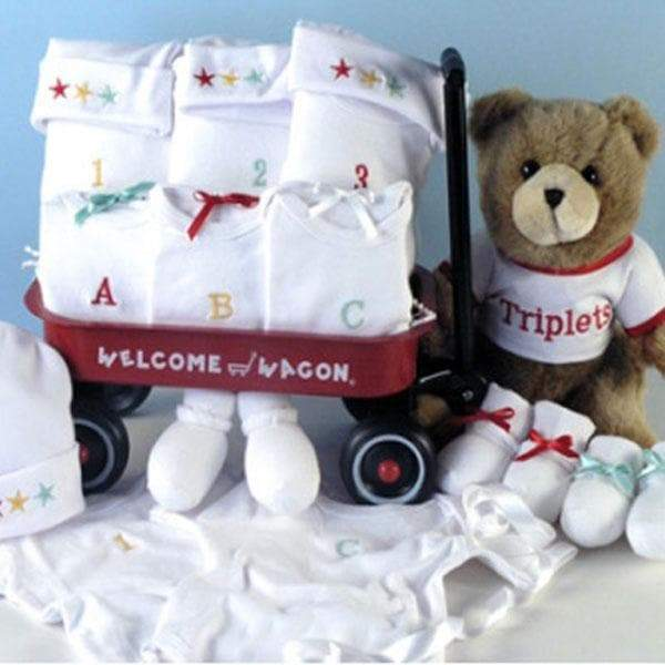 Numbers and Letters Triplets Baby Welcome Wagon