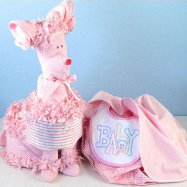 """Piñata Poodle"" Diaper Gift (Available in Pink, Blue or Yellow)"