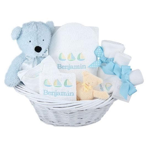 Sailboats and Sunshine Personalized Deluxe Gift Basket