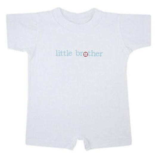 Your Biggest Fan Little Brother Baseball Romper