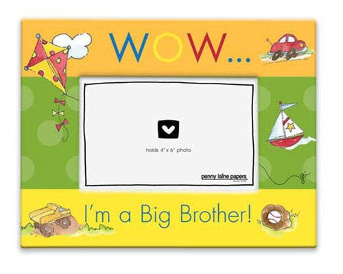 Wow, I'm A Big Brother Picture Frame