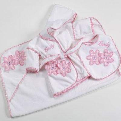 Personalized 3-Piece Terry Set - Daisies