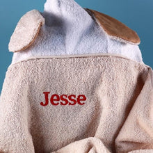 "Load image into Gallery viewer, Personalized ""Animal Adventures"" Hooded Towel"