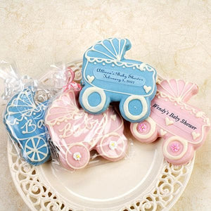 Personalized Baby Carriage Cookies