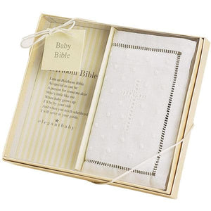 Heirloom Baby Bible with Hand Embroidered Cover