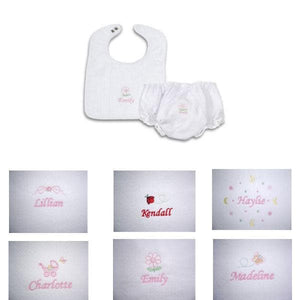 Personalized Bib and Pantie Gift Set