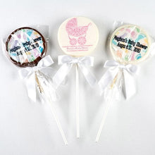Load image into Gallery viewer, Personalized Baby Shower Themed Chocolate Lollipops