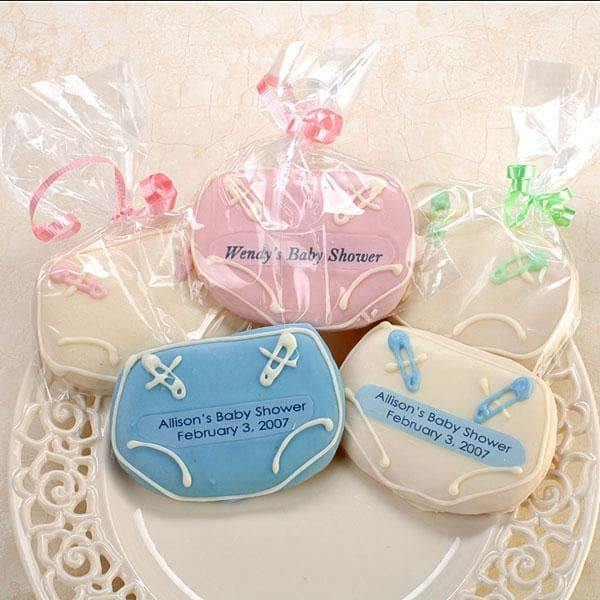 Personalized Baby Diaper Cookies