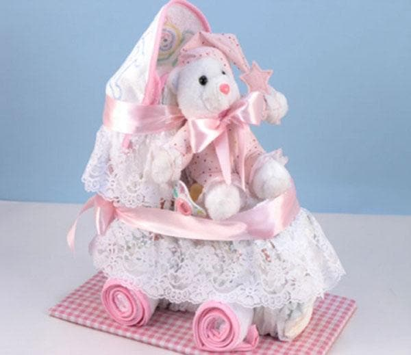 Baby Diaper Carriage - Girl
