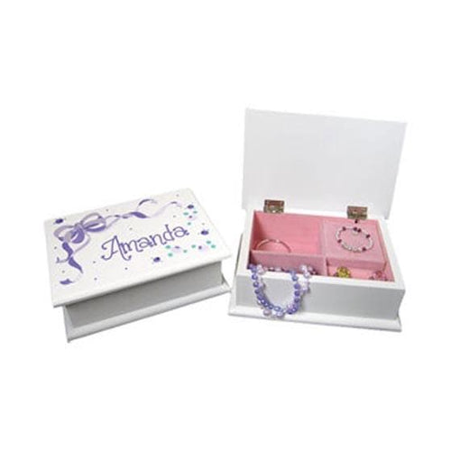 Personalized Lift Top Jewelry Box