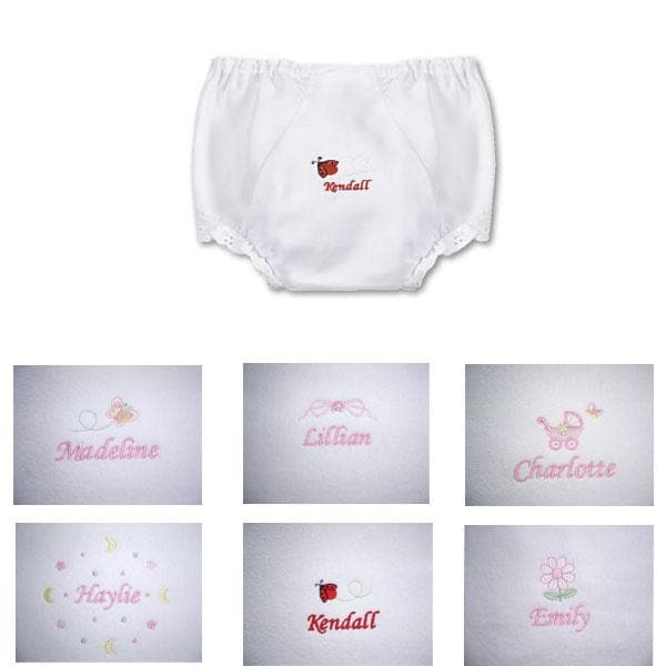 Personalized Lace Trimmed Diaper Cover Panty
