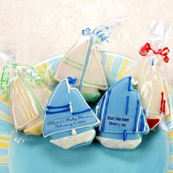 Personalized Sailboat Cookies