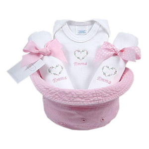 A Bucket Full of Baby Stuff 4-Piece Gift Set - Sweetheart (Personalization Available)