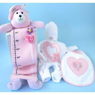 Sweetheart Plush Growth Chart Gift Set - 4 Piece