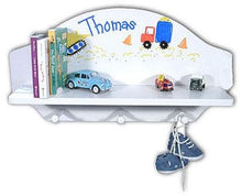 Load image into Gallery viewer, Personalized Toy Shelf (Available in Natural or White Finish)