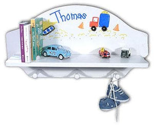 Personalized Toy Shelf (Available in Natural or White Finish)