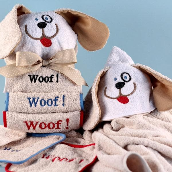 Personalized Woof Woof Hooded Towel