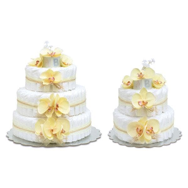 Yellow Orchid Diaper Cake