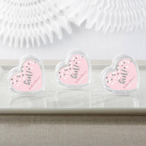 Personalized It's a Girl! Heart Favor Container (Set of 12)