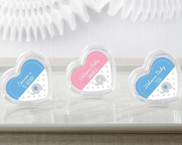 Personalized Little Peanut Elephant Heart Favor Container (Set of 12)