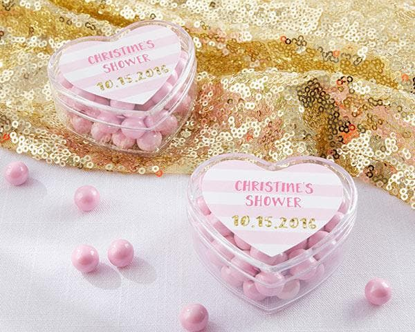 Personalized Sweet Heart Favor Container (Set of 12)