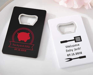 Personalized Baby-Q Credit Card Bottle Opener (Black or White)