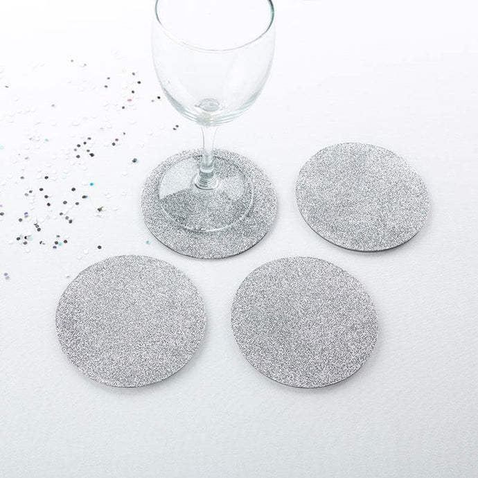 Silver Glitter Coaster (Set of 4)