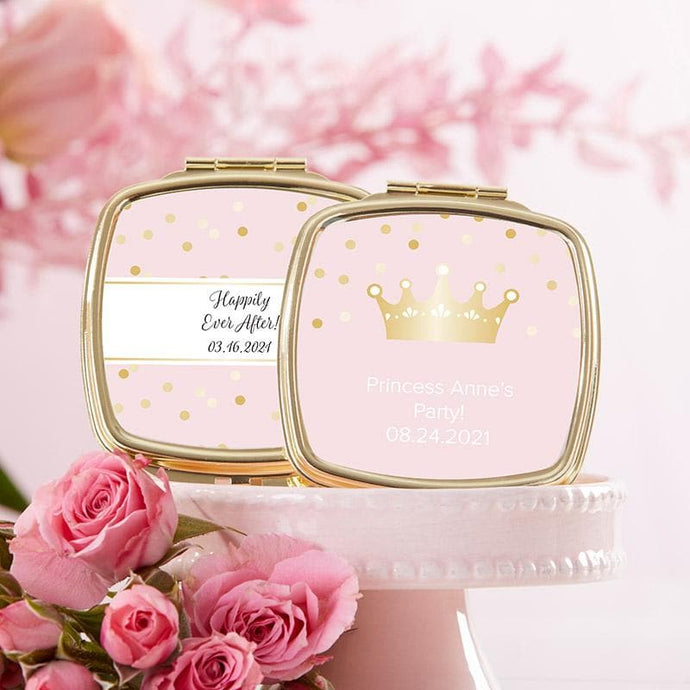 Personalized Princess Party Gold Compact