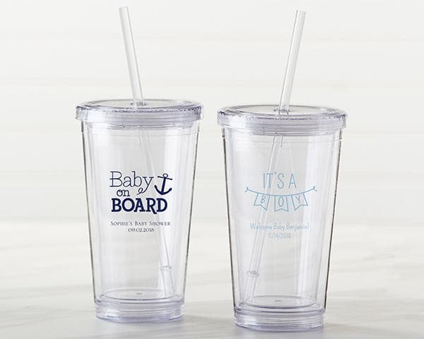 Personalized Baby Shower Printed Acrylic Tumbler