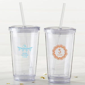 Personalized Printed Acrylic Tumbler - Rustic Charm Baby Shower