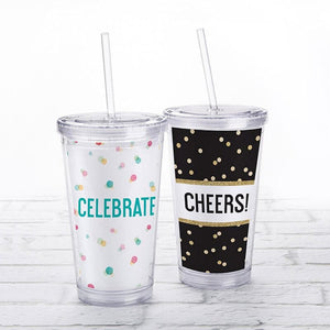 Party Time Acrylic Tumbler with Personalized Insert