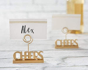 Cheers to You Gold Place Card Holder (Set of 6)