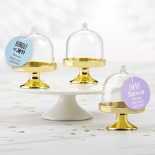 Load image into Gallery viewer, Personalized Baby Shower Small Bell Jar with Gold Base (Set of 12)