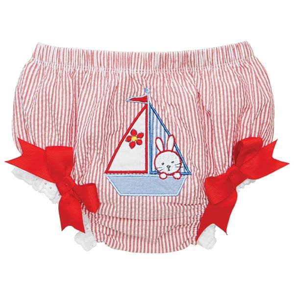 Red Stripe Nautical Bunny Bloomer