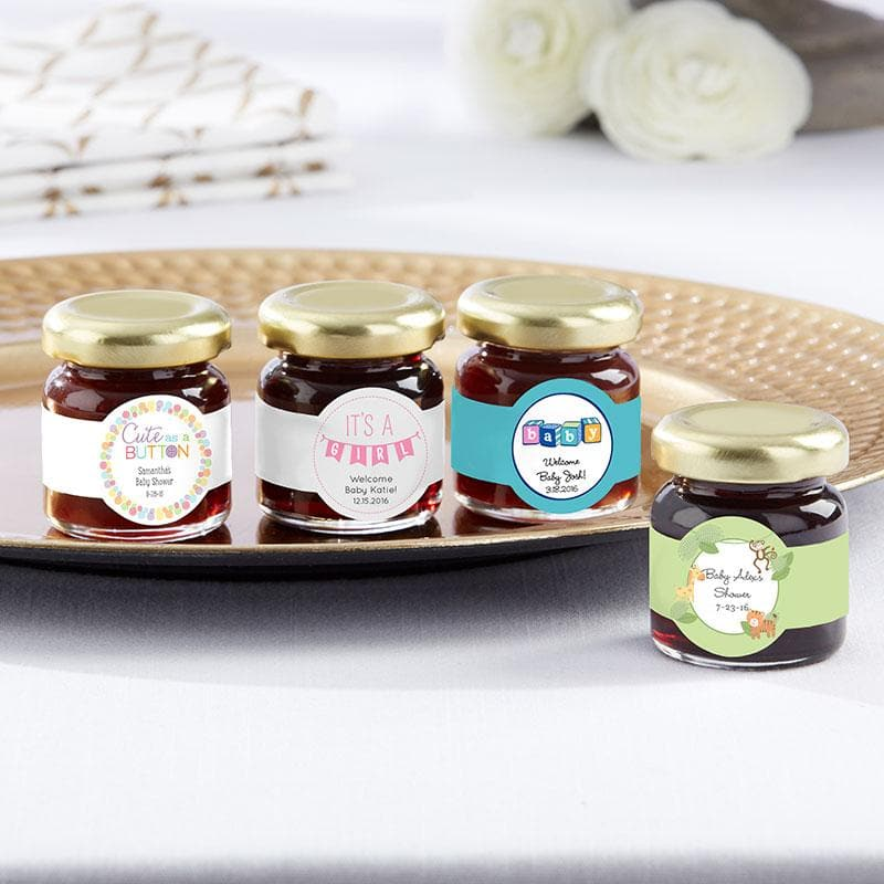 Personalized Baby Shower Strawberry Jam (Set of 12)