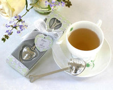 Load image into Gallery viewer, Tea Time Heart Tea Infuser Favor in Teatime Gift Box
