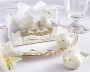 Feathering the Nest Ceramic Birds Salt & Pepper Shakers