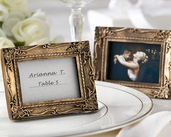 Work of Art Antique-Finish Place Card Holder/Photo Frame