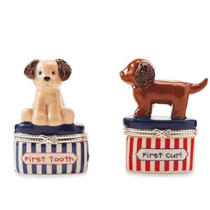 Ceramic Puppy Tooth & Curl Set (2 Pieces)