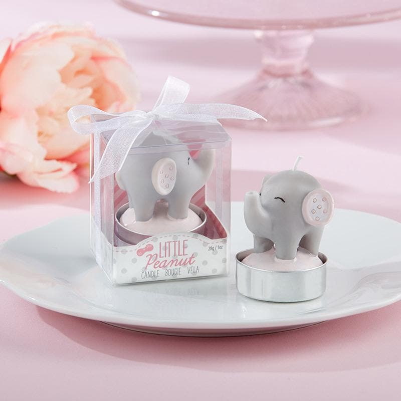 Little Peanut Elephant Shaped Candle - Pink (Set of 4)