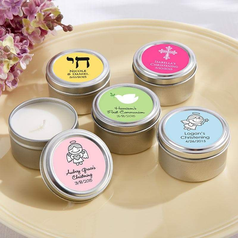 Personalized Religious Travel Candle