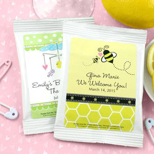 Personalized Baby Lemon Drop Martini Favors (Many Designs Available)
