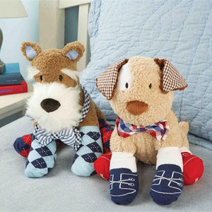 Bow Tie Socks Buddies (Puppy or Schnauzer)