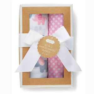 Layette Girl Swaddle Blankets (Set of 2)