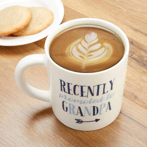Promoted To Grandpa 16 oz. White Coffee Mug