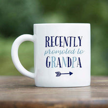 Load image into Gallery viewer, Promoted To Grandpa 16 oz. White Coffee Mug